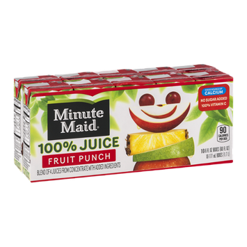 Minute Maid 100% Juice Fruit Punch - 10 CT