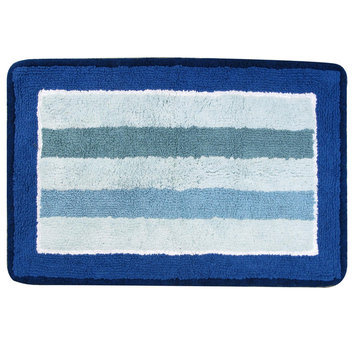 Allure Home Cannon Bath Rug Bold Stripe Ombre - ALLURE HOME CREATION CO. INC.