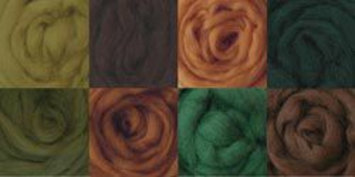 Wistyria Editions 100% Wool Roving, Woodsy