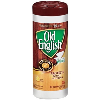 Old English English Furniture Wipes, 25 Count Packages (Pack of 6)
