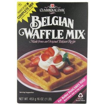 Classique Fare Classique Belgian Waffle Mix, 16-Ounce Boxes (Pack of 6)