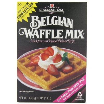 Classique Fare Classique Belgian Waffle Mix, 16-Ounce Boxes (Pack of 6)