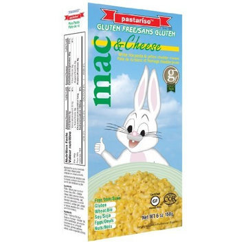Pastariso White Rice Mac and Yellow Cheese (Rabbit), 6-Ounce (Pack of 6)