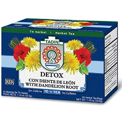 Tadin Herb and Tea Caffeine Free Detox, 24 Count (Pack of 1)
