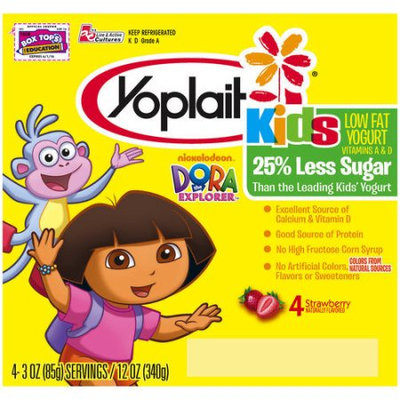 Yoplait® Kids Dora The Explorer Strawberry Low Fat Yogurt