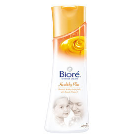 Bioré Shower Cream Healthy Plus with Honey & Vitamin E