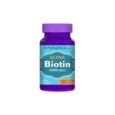 Piping Rock Biotin 5,000mcg 180 Fast Dissolve Tablets
