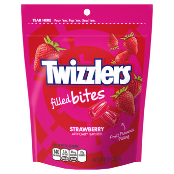 Twizzlers Filled Bites Candy Strawberry Licorice