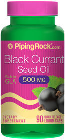 Piping Rock Black Currant Seed Oil 500 mg 90 Liquid Capsules