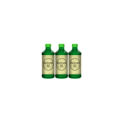 Piping Rock Black Seed Oil (Cumin Seed) - Cold Pressed 3 Bottles x 16 fl oz