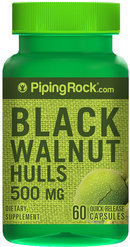 Piping Rock Black Walnut Hulls 500mg 60 Capsules