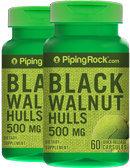 Piping Rock Black Walnut Hulls 500mg 2 Bottles x 60 Capsules