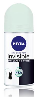NIVEA Invisible for Black & White Fresh Roll-On for Women