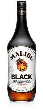 Malibu Rum Caribbean Black 1.75 L Bottle