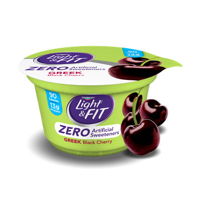 Light & Fit® Black Cherry Greek Nonfat Yogurt With Zero Artificial Sweeteners