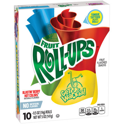 Fruit Roll-Ups™ Blastin' Berry Hot Colors Fruit Flavored Snacks