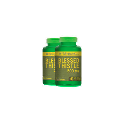 Piping Rock Blessed Thistle 500 mg 2 Bottles x 100 Capsules