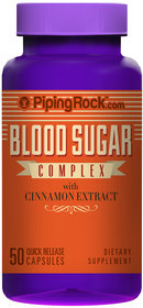 Piping Rock Blood Sugar Complex with Cinnamon Extract 50 Capsules