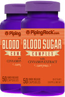 Piping Rock Blood Sugar Complex with Cinnamon Extract 2 Bottles x 50 Capsules