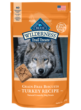 THE BLUE BUFFALO CO. BLUE™ WILDERNESS® Trail Treats® Turkey Biscuits Natural Crunchy Dog Biscuits