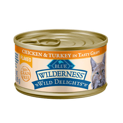 THE BLUE BUFFALO CO. BLUE™ Wilderness® Wild Delights™ Flaked Chicken & Turkey Recipe For Adult Cats