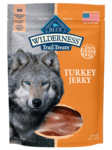 THE BLUE BUFFALO CO. BLUE™ Wilderness® Trail Treats® Turkey Jerky All Natural Grain-Free Dog Treats