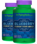 Piping Rock Blueberry/Eyebright Vision Complex 2 Bottles x 180 Coated Caplets