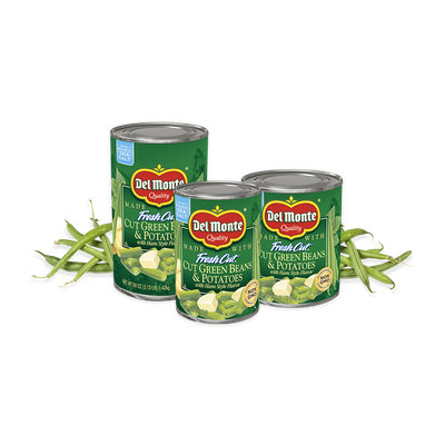 Del Monte® Blue Lake® Cut Green Beans and Potatoes with Ham-Style Flavor