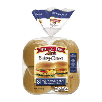 Pepperidge Farm® Classic Soft Whole Wheat Hamburger Buns