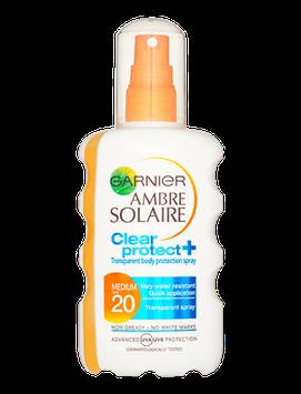 Garnier Ambre Solaire Clear Protect Spf 20 Sun Cream Spray