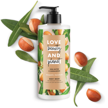 Love Beauty and Planet Shea Butter and Sandalwood Majestic Moisture Body Wash