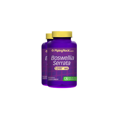 Piping Rock Boswellia Serrata 1200 mg 2 x 120 Capsule Bottles