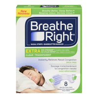 Breathe Right Extra Clear Nasal Strips, One Size, Drug Free