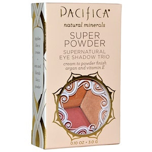 Pacifica Super Powder Supernatural Eye Shadow Trio Breathless, Glowing, Sunset