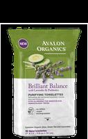 Avalon Organics Brilliant Balance With Lavender & Prebiotics Purifying Towelettes
