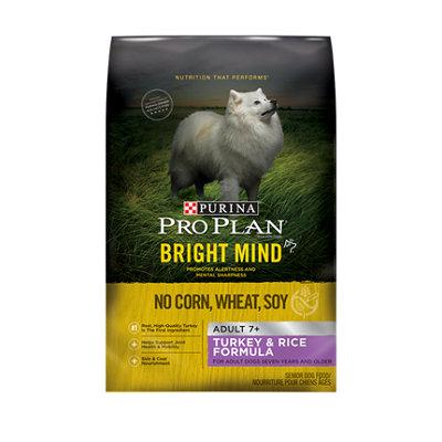 PRO PLAN® BRIGHT MIND™ ADULT 7+ Turkey & Rice Formula