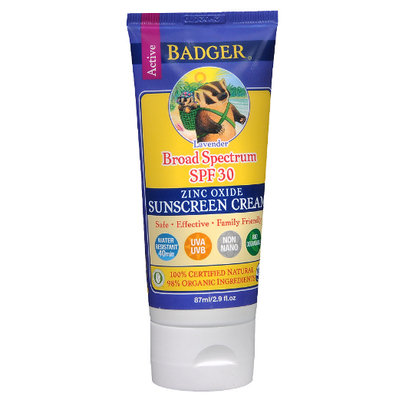 Badger Balm All-Natural Sunscreen Cream - SPF 30 Lavender