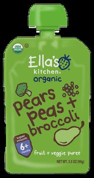 Ella's Kitchen® Organic broccoli, pears and peas fruit + veggie puree