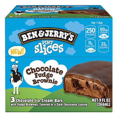 Ben & Jerry's® Pint Slices Chocolate Fudge Brownie
