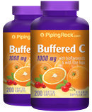Piping Rock Buffered C 1000 mg with Bioflavonids 2 Bottles x 200 Coated Caplets