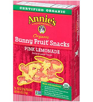 Annie's® Pink Lemonade Organic Bunny Fruit Snacks