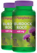 Piping Rock Burdock Root 460 mg 2 Bottles x 120 Capsules