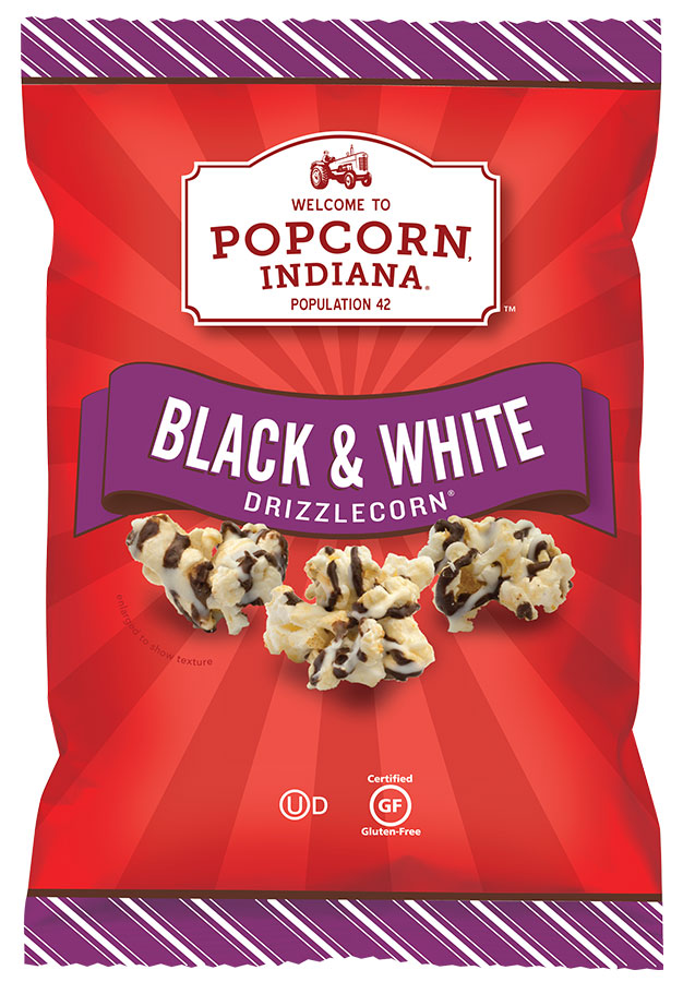 Popcorn Indiana  Black & White Drizzlecorn