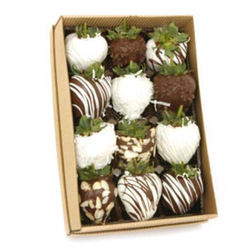 Bouquet of Fruits Gourmet Chocolate Dipped Strawberries 12ct, 1 ea