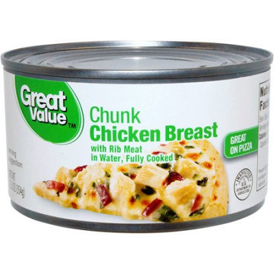 Wal-mart Stores, Inc. Great Value Chunk Chicken Breast, 12.5 oz