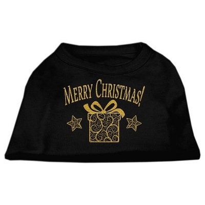 Ahi Golden Christmas Present Dog Shirt Black XS (8)