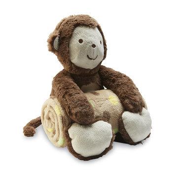 Triboro Quilt Mfg. Corp. Plush Monkey & Fleece Blanket