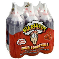 Warheads Sour Squeezers, Black Cherry, 6-Count (Pack of 8)