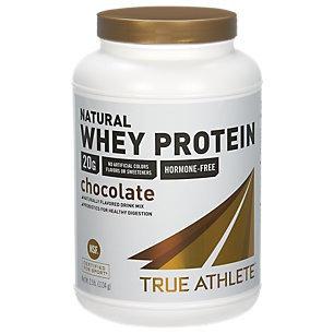 True Athlete Natural Whey Protein - Chocolate - 2.5 Pound Powder - Whey Protein / Isolate