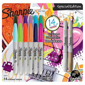 Sharpie® Special Edition Permanent Markers, Fine/Metallic Tip, 14ct - Multicolor Ink